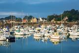 Hafen in der Bretagne in Ploumanach, Frankreich - 222032841