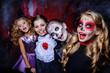 children at halloween party