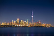 CN Tower and the Toronto city skyline looking downtown Ontario Canada