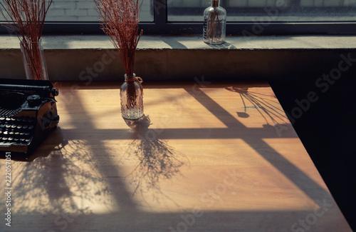 Shadows on the window of autumn - 222057051