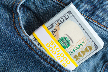 Money in Pants Pocket