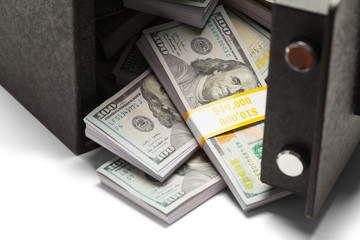 Money With Open Safe