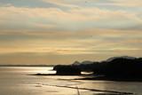 宇土市の美しい夕方の海岸