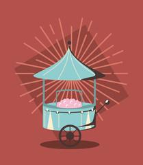 sugar cotton cart
