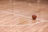 Basketball Ball on Basketball Court - 222066853