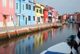 canal in Burano Island near Venice in Italy - 222080005
