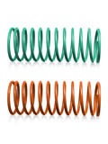 automotive suspension springs on a white background - 222082643