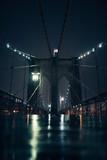 Brooklyn Bridge at night New York City Manhatten USA - 222089092