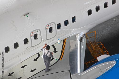 washing of aircraft