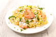 tagliatelle with shrimp and sauce - 222099446