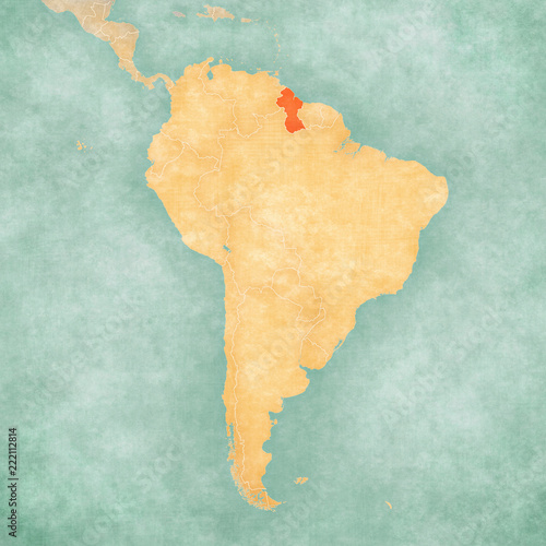 Map of South America - Guyana | Buy Photos | AP Images | DetailView