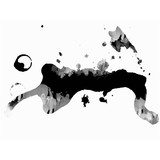 Drops of ink with copy space, abstract vector background texture - 222113007