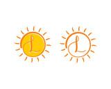 Letter L and Sun Logo Icon 001 - 222118295