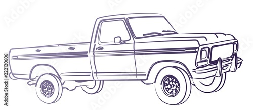Wall mural The Truck sketch.