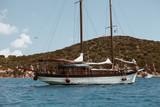 AUG 2018 ITA - ancient wood boat in Sardinia. - 222121401