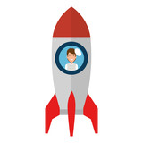 young man in rocket startup - 222122066
