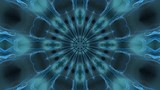 Bright blue rotating blue starlike swirl, kaleidoscopic seamlessly looping flame fractal animation - 222141202