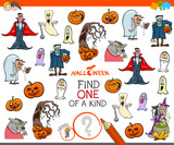 one of a kind activity game with Halloween characters - 222143277