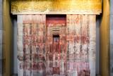 Egyptian hieroglyphs on wall - 222144004