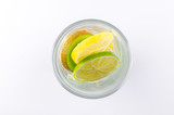 Transparent glass filled by fruit - 222148087