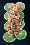 Battered calamari and cuttle with lime - 222149842