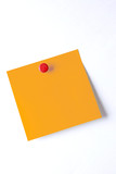 blank postit sticky note with push pin isolated on white background - 222151836