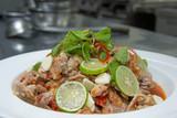 spicy salad with slice pork thai food - 222155260
