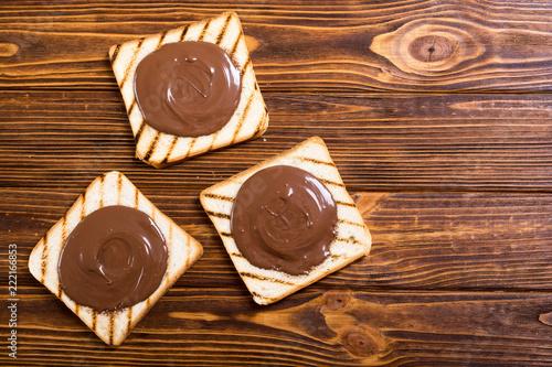 Fototapeta nut nougat cream sandwich