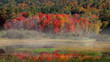 Panoramic view of rural Vermont in autumn time. - 222171460