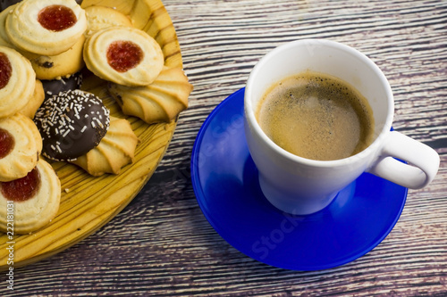 Sticker Coffee and different types of cookies