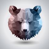 Abstract polygonal tirangle animal bear. Hipster animal illustration. - 222182437