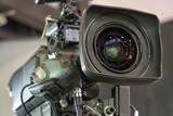 Professiona tv camera in live show pavilion. - 222190045