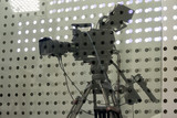 Professiona tv camera in live show pavilion. - 222190092