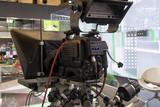 Professional tv camera in live show pavilion. - 222191263
