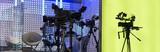 Professional tv camera in live show pavilion. - 222191495