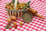 ingrédients pour la tarte aux mirabelles  - 222202695