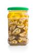 Pickled garlic in glass jar - 222205290