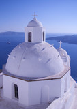 The white church on Santorini, Greece - 222219247