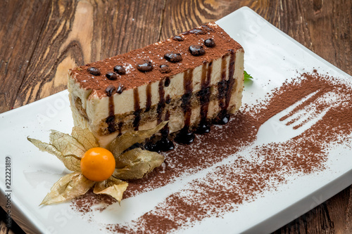 Sticker classic tiramisu dessert