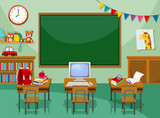 A empty computer classroom - 222235466