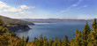 Panoramic view of scenery beside the famous Cabot Trail
