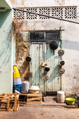 Pots and pans, back street, © Kevin Hellon