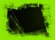Leinwandbild Motiv black and yellow green hand painted background texture with grunge brush strokes