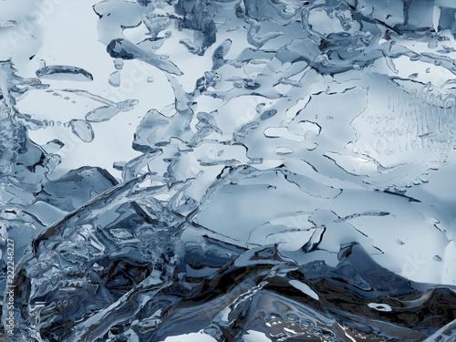Rozpryskiwania niebiesko musujące czystej wody. Abstrakcyjna charakter tła