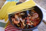 seafood pasta or spaghetti allo scoglio