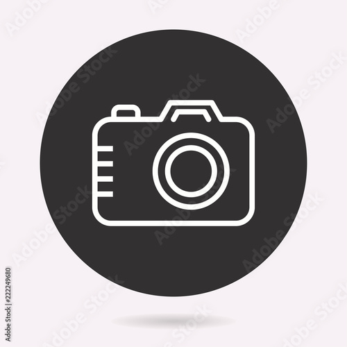 Fototapeta Camera - vector icon. Illustration isolated. Simple pictogram.