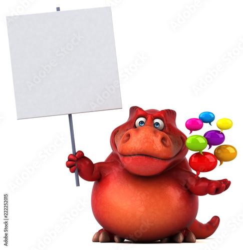Fototapeta Fun dinosaur - 3D Illustration