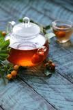 organic berries rosehip tea for health - 222254238