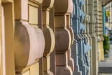 Historische Häuserfassaden aus ungewöhnlicher Perspektive - 222256289