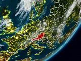 Austria on Earth at night - 222257498